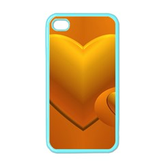 Love Apple Iphone 4 Case (color)