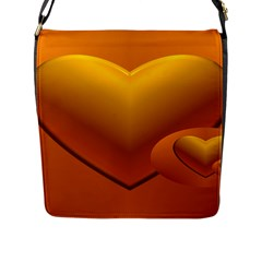 Love Flap Closure Messenger Bag (Large)