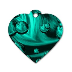 Space Dog Tag Heart (One Sided)