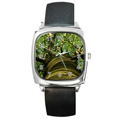 Tree Square Leather Watch