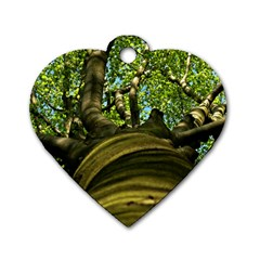 Tree Dog Tag Heart (One Sided)