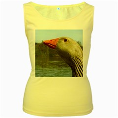 Geese Womens  Tank Top (Yellow)