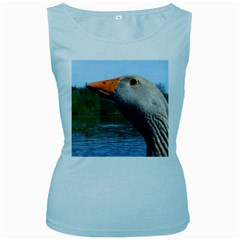 Geese Womens  Tank Top (Baby Blue)