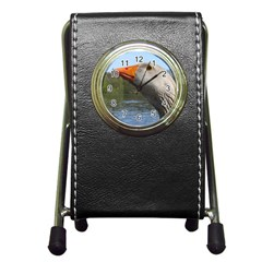 Geese Stationery Holder Clock