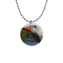 Geese Button Necklace