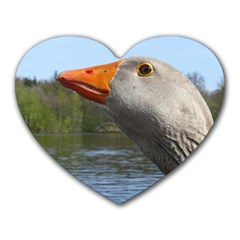 Geese Mouse Pad (heart)
