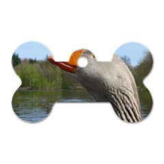 Geese Dog Tag Bone (Two Sided)