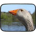 Geese Mini Fleece Blanket (Two Sided) 35 x27 Blanket Back