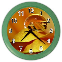 Drops Wall Clock (color)