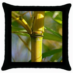 Bamboo Black Throw Pillow Case