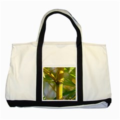Bamboo Two Toned Tote Bag