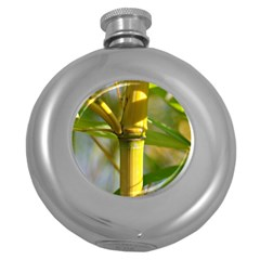 Bamboo Hip Flask (round)