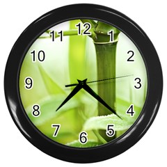 Bamboo Wall Clock (Black)