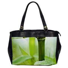 Bamboo Oversize Office Handbag (One Side)