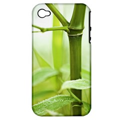 Bamboo Apple Iphone 4/4s Hardshell Case (pc+silicone)