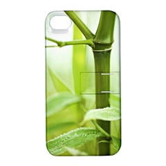 Bamboo Apple Iphone 4/4s Hardshell Case With Stand