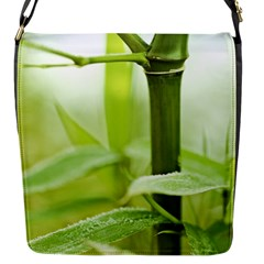 Bamboo Flap closure messenger bag (Small)