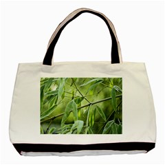 Bamboo Twin-sided Black Tote Bag