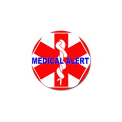 MEDICAL ALERT HEALTH IDENTIFICATION SIGN Golf Ball Marker 4 Pack