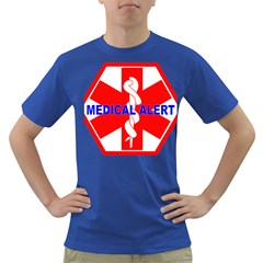 MEDICAL ALERT HEALTH IDENTIFICATION SIGN Mens' T-shirt (Colored)