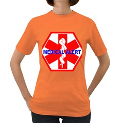 MEDICAL ALERT HEALTH IDENTIFICATION SIGN Womens' T-shirt (Colored)