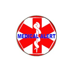 Medical Alert Health Identification Sign Golf Ball Marker 4 Pack (for Hat Clip)