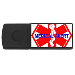 MEDICAL ALERT HEALTH IDENTIFICATION SIGN 4GB USB Flash Drive (Rectangle)
