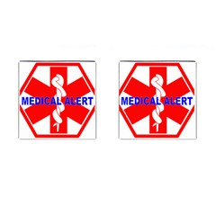 MEDICAL ALERT HEALTH IDENTIFICATION SIGN Cufflinks (Square)