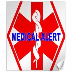 Medical Alert Health Identification Sign Canvas 8  X 10  (unframed)