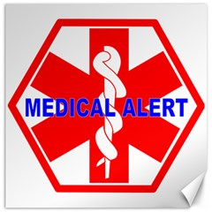 Medical Alert Health Identification Sign Canvas 20  X 20  (unframed)