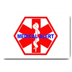 MEDICAL ALERT HEALTH IDENTIFICATION SIGN Large Door Mat