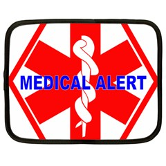 MEDICAL ALERT HEALTH IDENTIFICATION SIGN Netbook Case (Large)