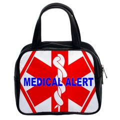 MEDICAL ALERT HEALTH IDENTIFICATION SIGN Classic Handbag (Two Sides)