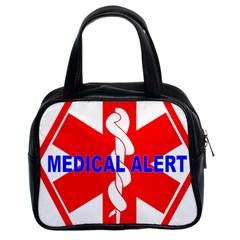 Medical Alert Health Identification Sign Classic Handbag (two Sides)
