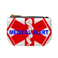 Medical Alert Health Identification Sign Coin Change Purse