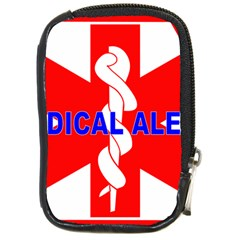 MEDICAL ALERT HEALTH IDENTIFICATION SIGN Compact Camera Leather Case