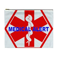 MEDICAL ALERT HEALTH IDENTIFICATION SIGN Cosmetic Bag (XL)