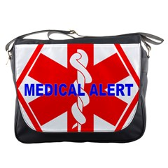 MEDICAL ALERT HEALTH IDENTIFICATION SIGN Messenger Bag