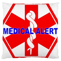 MEDICAL ALERT HEALTH IDENTIFICATION SIGN Large Cushion Case (Two Sided)