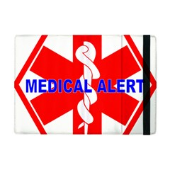 MEDICAL ALERT HEALTH IDENTIFICATION SIGN Apple iPad Mini Flip Case