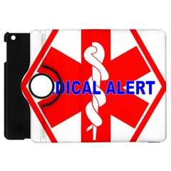 Medical Alert Health Identification Sign Apple Ipad Mini Flip 360 Case
