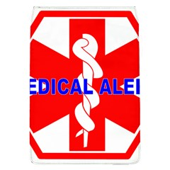 MEDICAL ALERT HEALTH IDENTIFICATION SIGN Removable Flap Cover (Large)