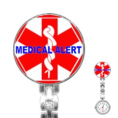 MEDICAL ALERT HEALTH IDENTIFICATION SIGN Stainless Steel Nurses Watch