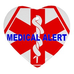 MEDICAL ALERT HEALTH IDENTIFICATION SIGN Heart Ornament