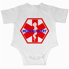 MEDICAL ALERT HEALTH IDENTIFICATION SIGN Infant Bodysuit