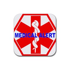 MEDICAL ALERT HEALTH IDENTIFICATION SIGN Drink Coasters 4 Pack (Square)