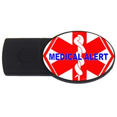 MEDICAL ALERT HEALTH IDENTIFICATION SIGN 2GB USB Flash Drive (Oval)