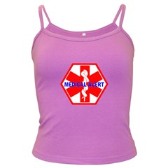 MEDICAL ALERT HEALTH IDENTIFICATION SIGN Spaghetti Top (Colored)