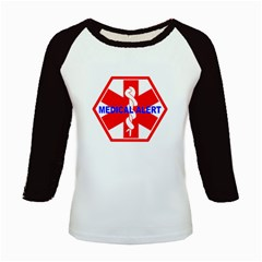 MEDICAL ALERT HEALTH IDENTIFICATION SIGN Kid s Long Cap Sleeve T-Shirt
