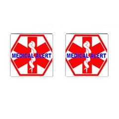 Medical Alert Health Identification Sign Cufflinks (square)
